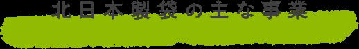 北日本製袋の主な事業-Products-